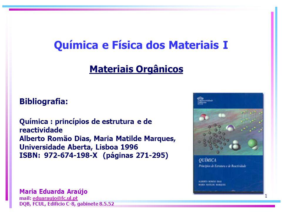 Química e Física dos Materiais I