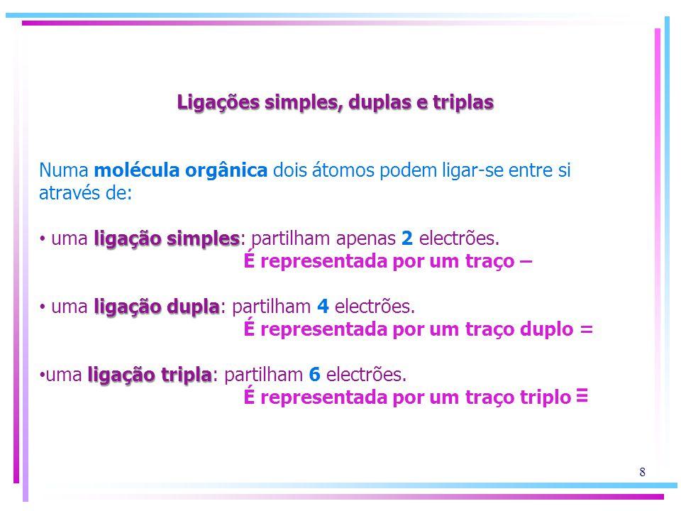 Ligações simples, duplas e triplas