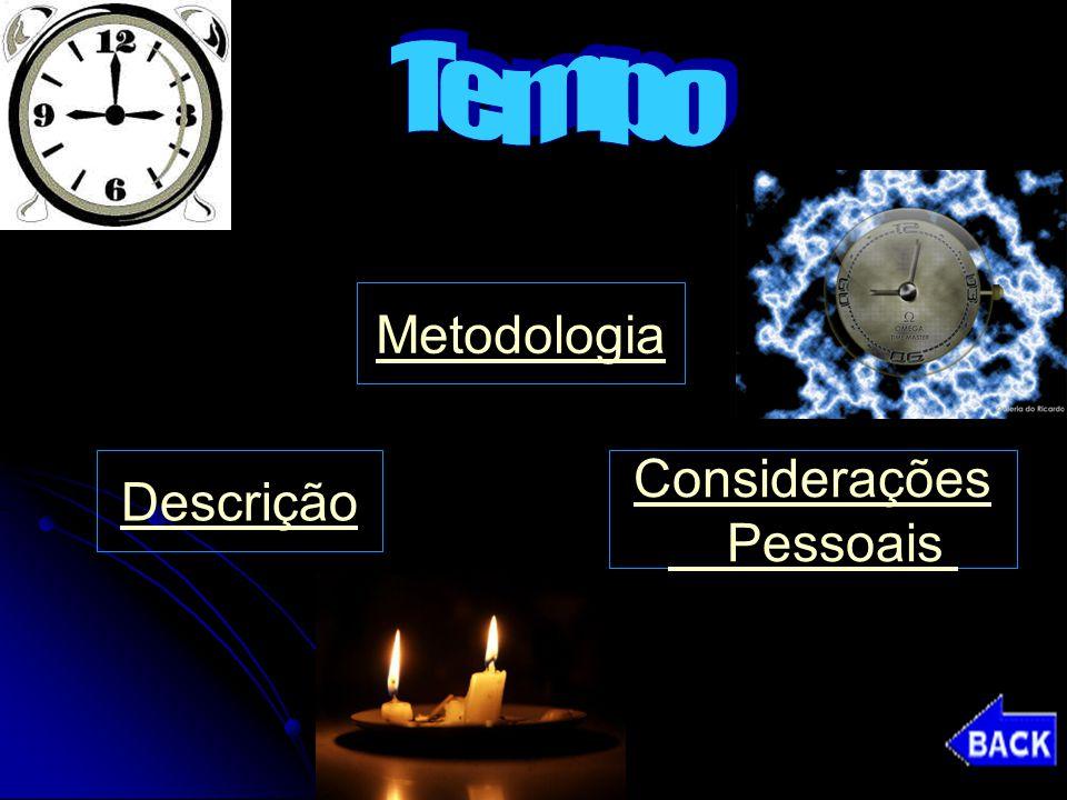 Tempo Metodologia Descrição Considerações Pessoais