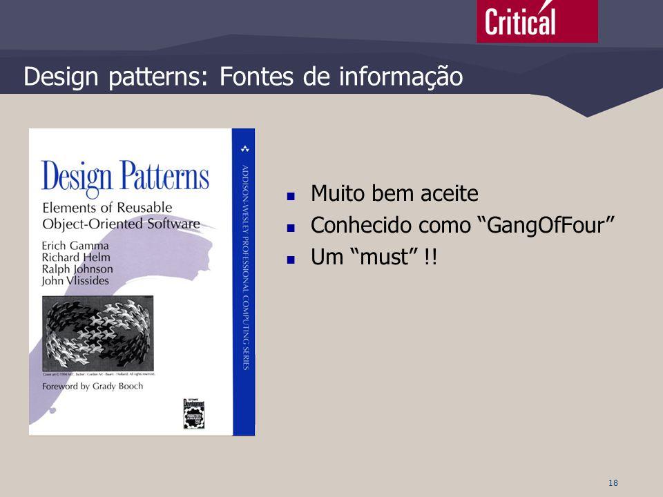Design patterns: Fontes de informação