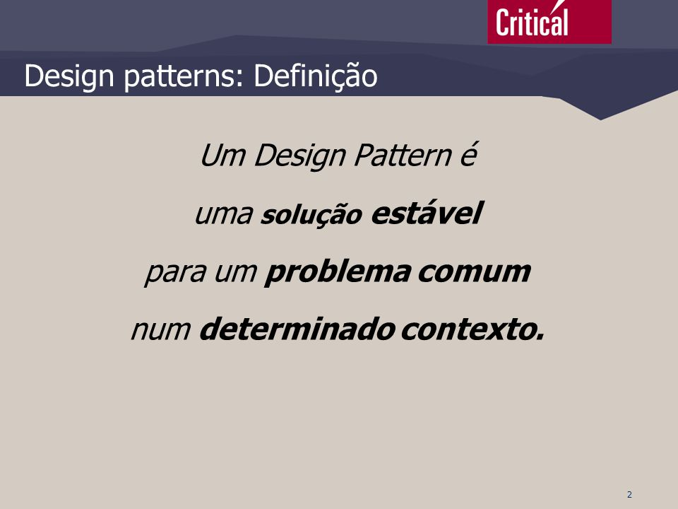 Design patterns: Definição