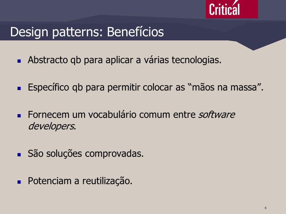 Design patterns: Benefícios