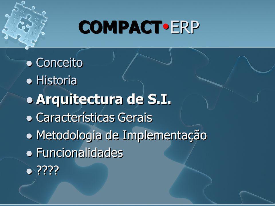 COMPACTERP Arquitectura de S.I. Conceito Historia