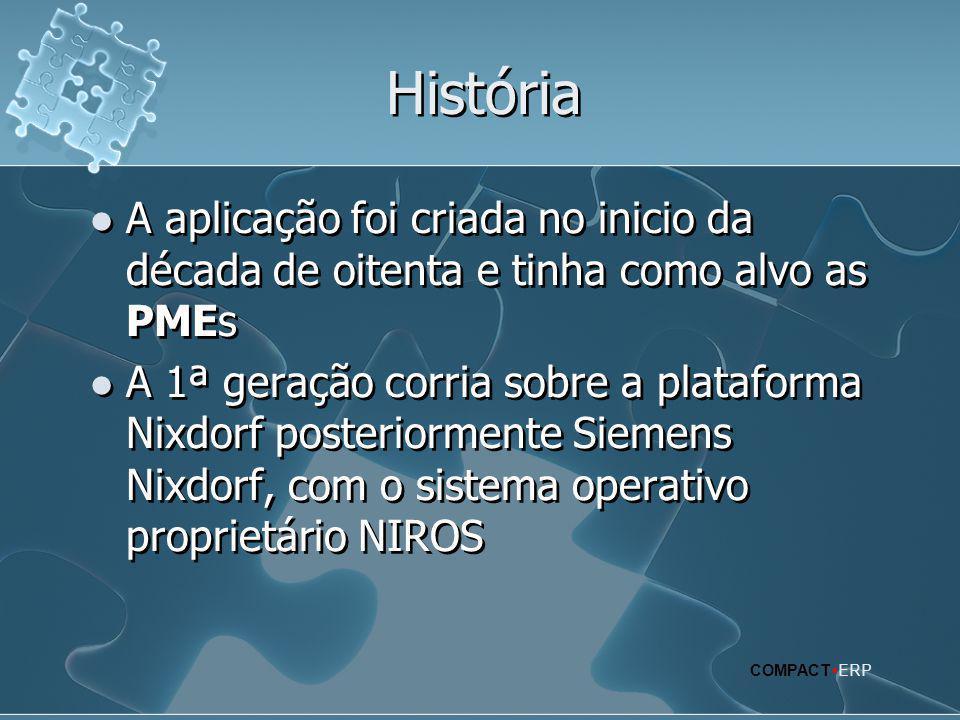 História A aplicação foi criada no inicio da década de oitenta e tinha como alvo as PMEs.