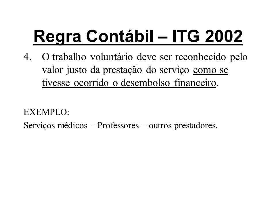 Regra Contábil – ITG 2002
