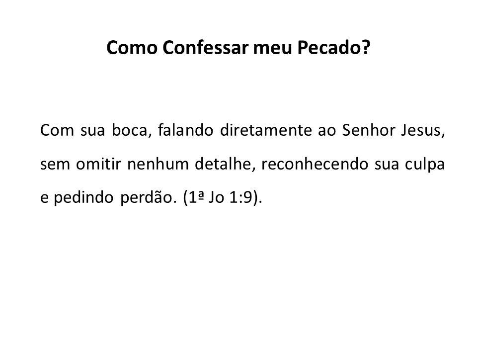 Como Confessar meu Pecado