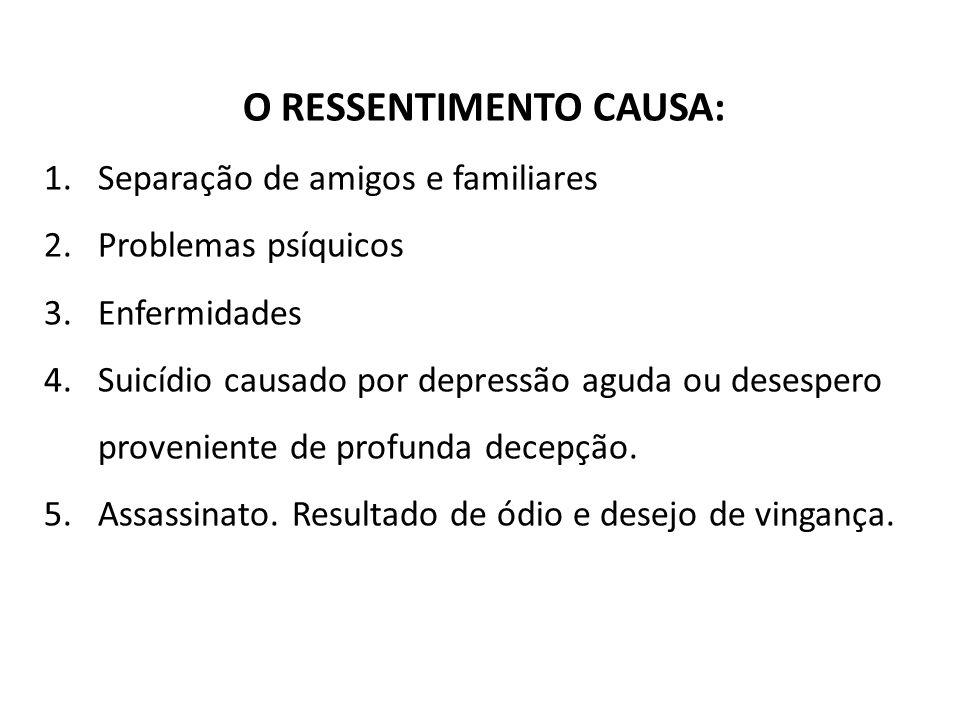 O RESSENTIMENTO CAUSA: