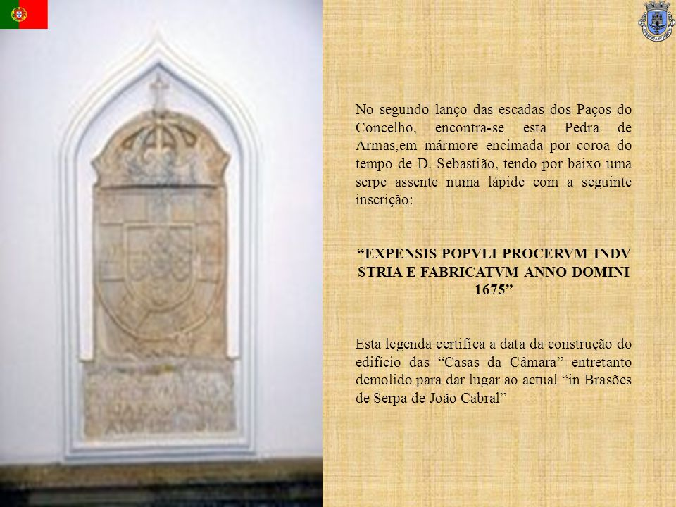 EXPENSIS POPVLI PROCERVM INDV STRIA E FABRICATVM ANNO DOMINI 1675