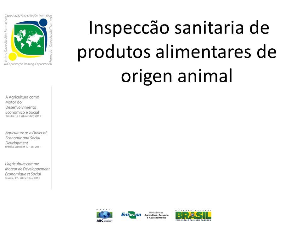 Inspeccão sanitaria de produtos alimentares de origen animal