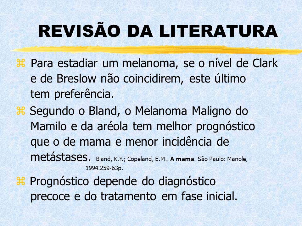 REVISÃO DA LITERATURA Para estadiar um melanoma, se o nível de Clark