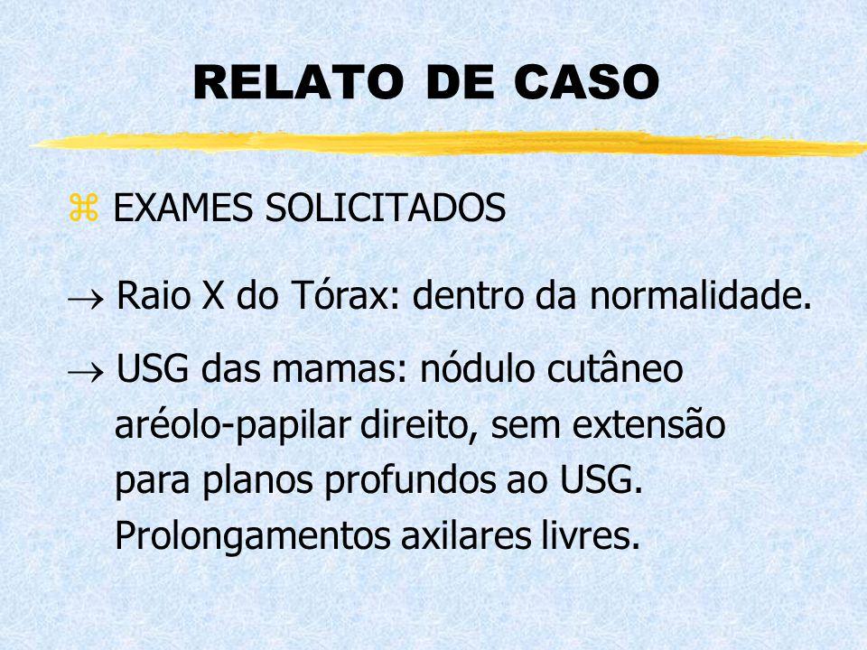 RELATO DE CASO EXAMES SOLICITADOS