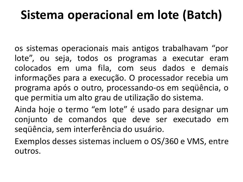 Sistema operacional em lote (Batch)
