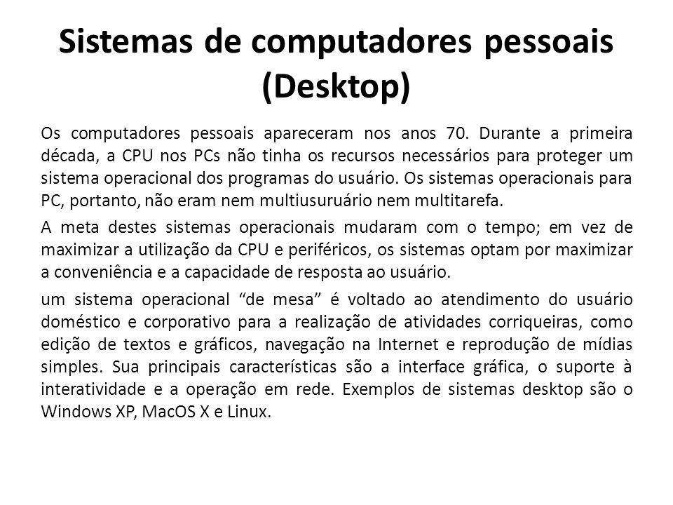 Sistemas de computadores pessoais (Desktop)