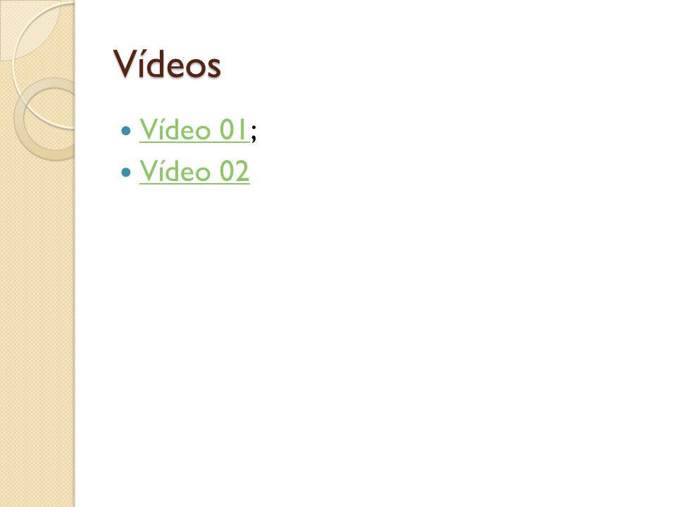 Vídeos Vídeo 01; Vídeo 02