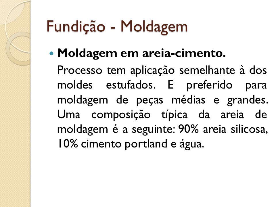 Fundição - Moldagem Moldagem em areia-cimento.