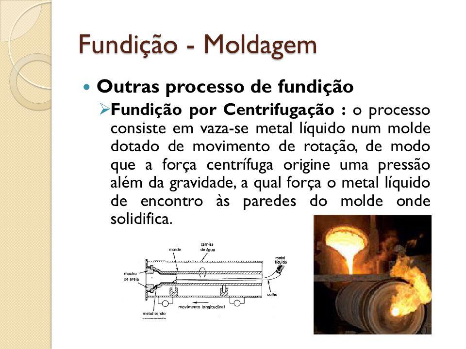 Fundição - Moldagem Outras processo de fundição