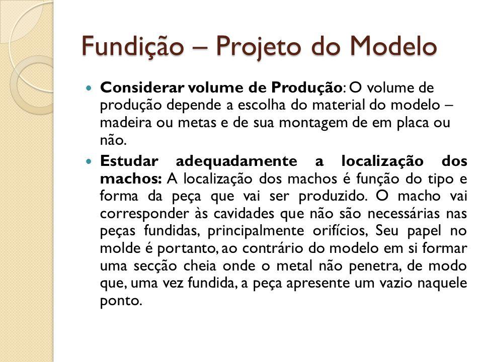 Fundição – Projeto do Modelo