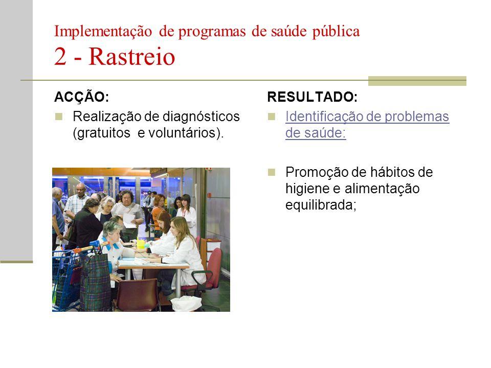 Implementação de programas de saúde pública 2 - Rastreio