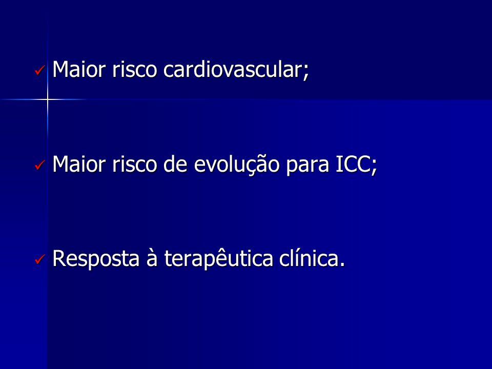 Maior risco cardiovascular;