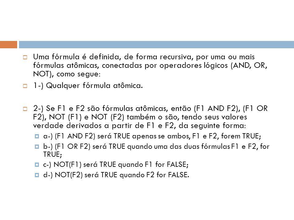 1-) Qualquer fórmula atômica.