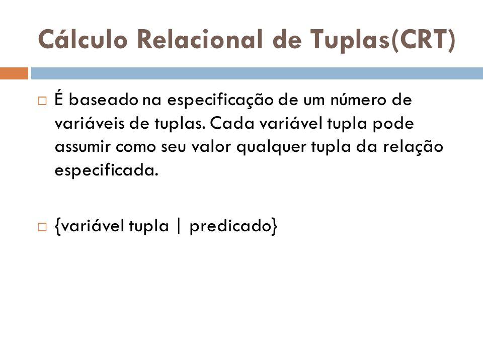 Cálculo Relacional de Tuplas(CRT)