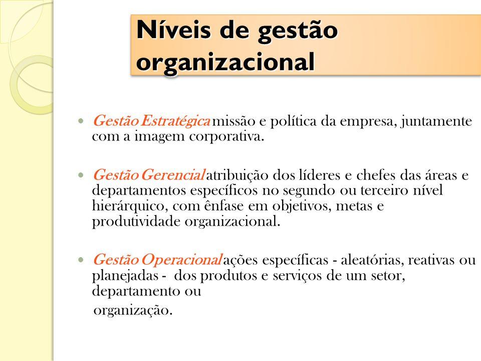 Níveis de gestão organizacional