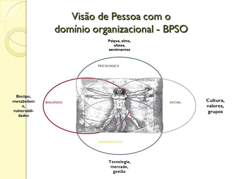 Visão de Pessoa com o domínio organizacional - BPSO