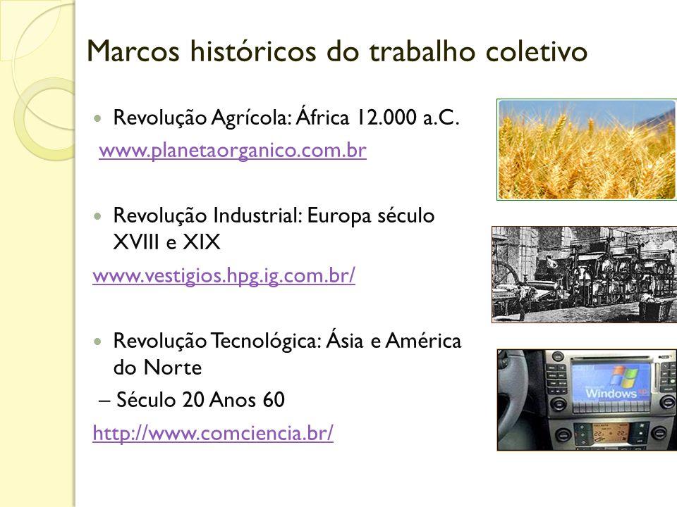 Marcos históricos do trabalho coletivo