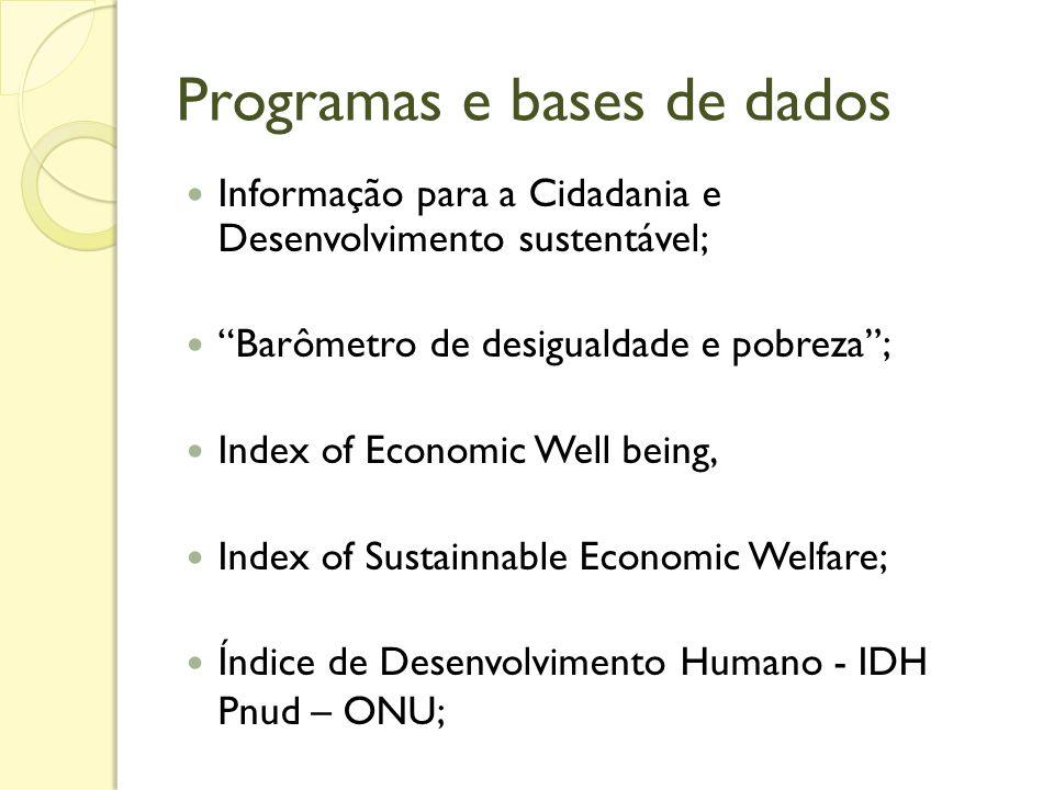 Programas e bases de dados