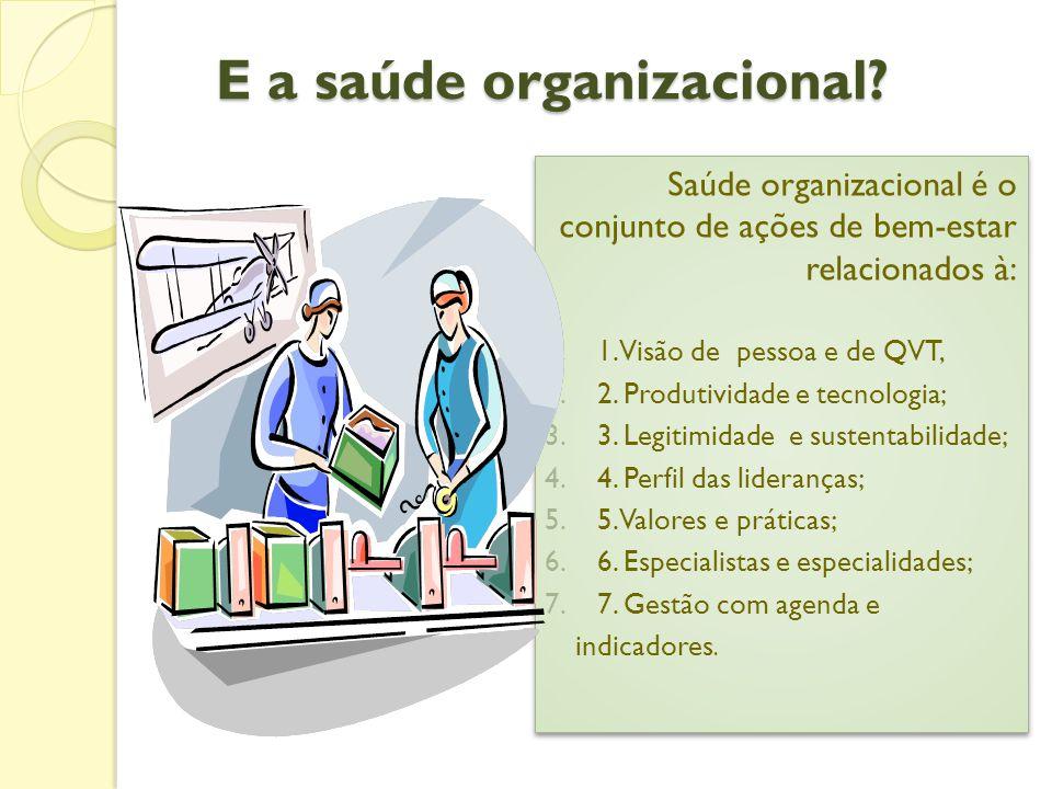 E a saúde organizacional