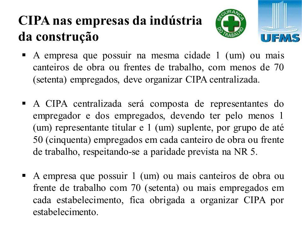 CIPA nas empresas da indústria da construção