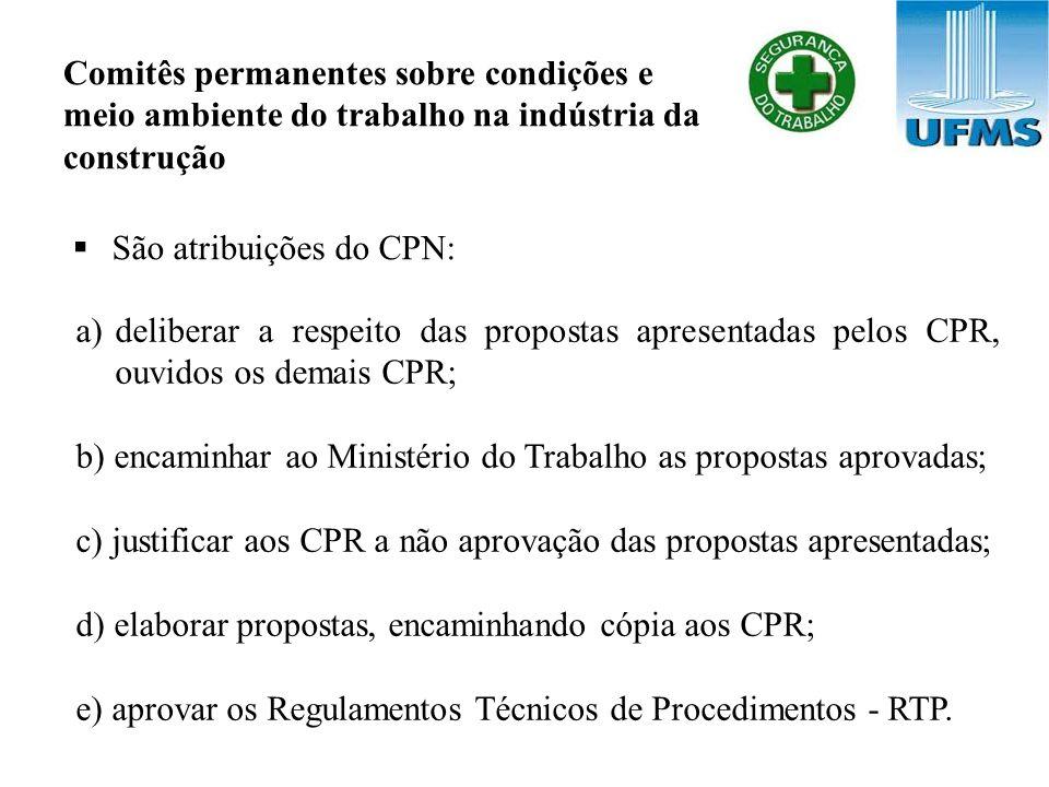 Comitês permanentes sobre condições e meio ambiente do trabalho na indústria da construção