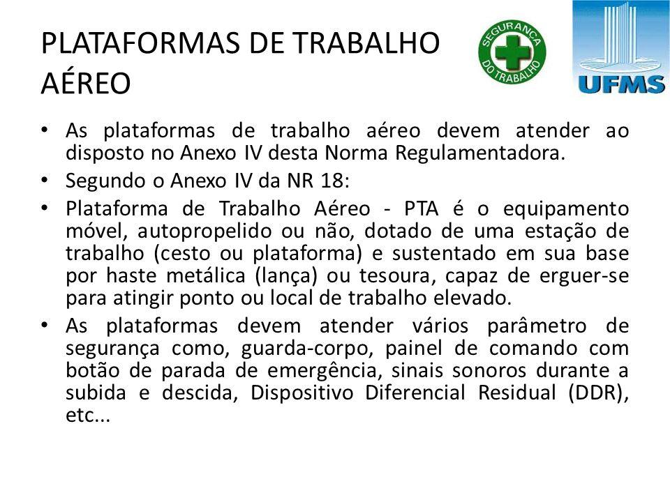 PLATAFORMAS DE TRABALHO AÉREO