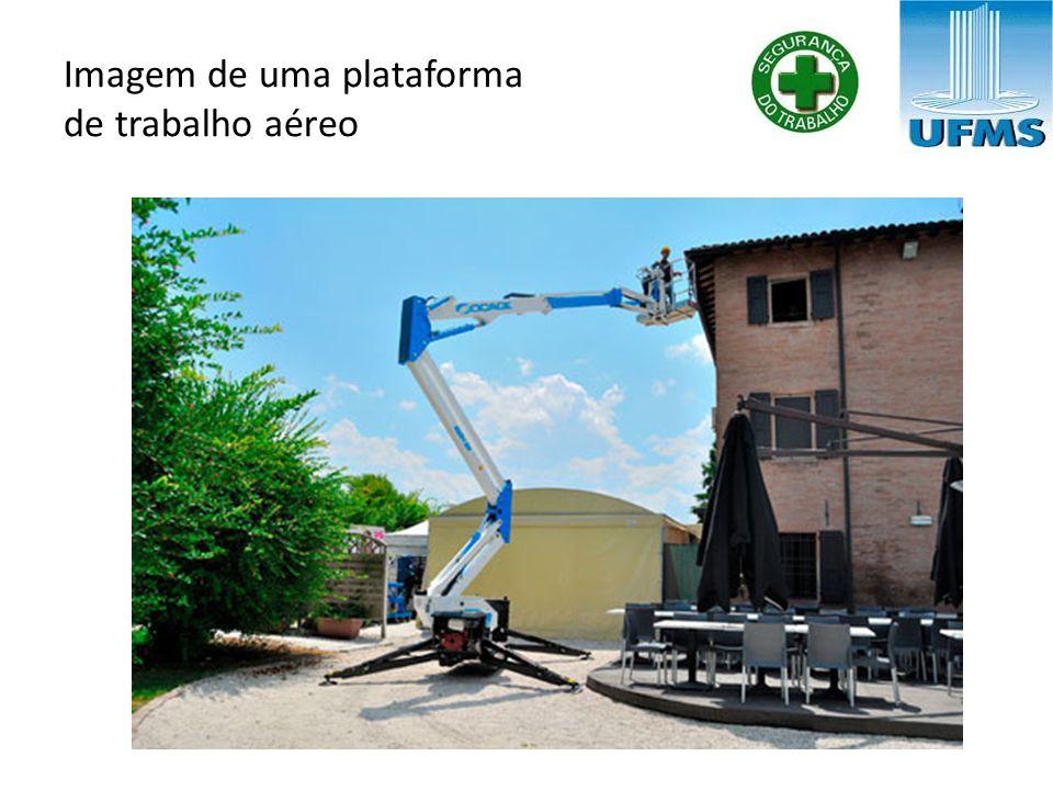 Imagem de uma plataforma de trabalho aéreo
