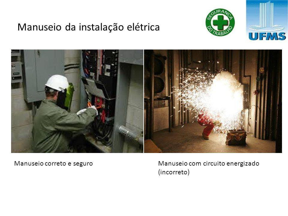 Manuseio da instalação elétrica