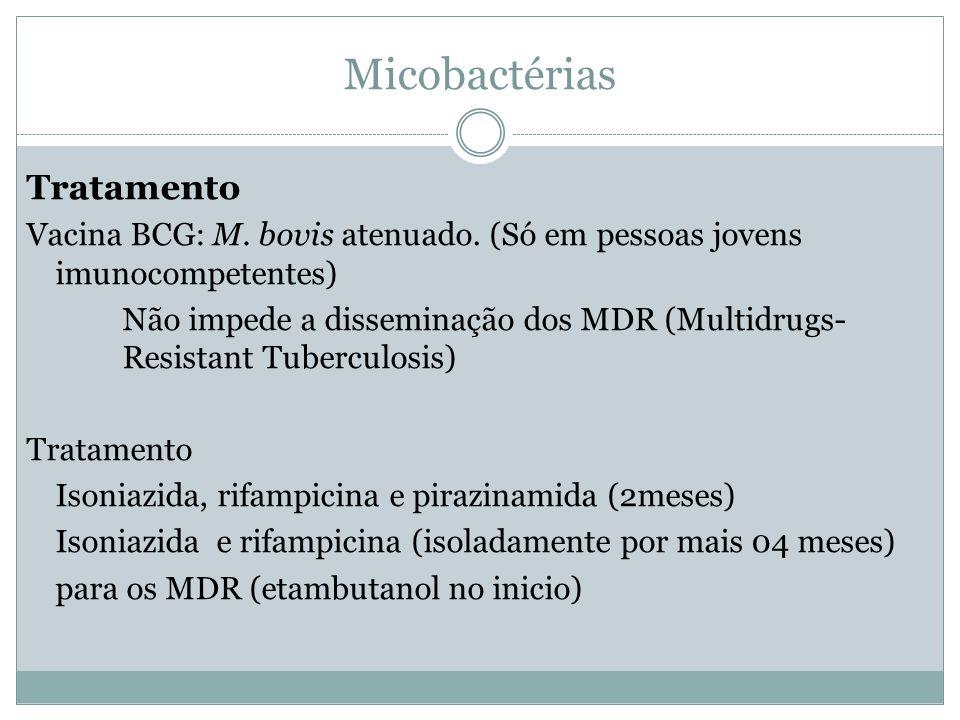Micobactérias Tratamento