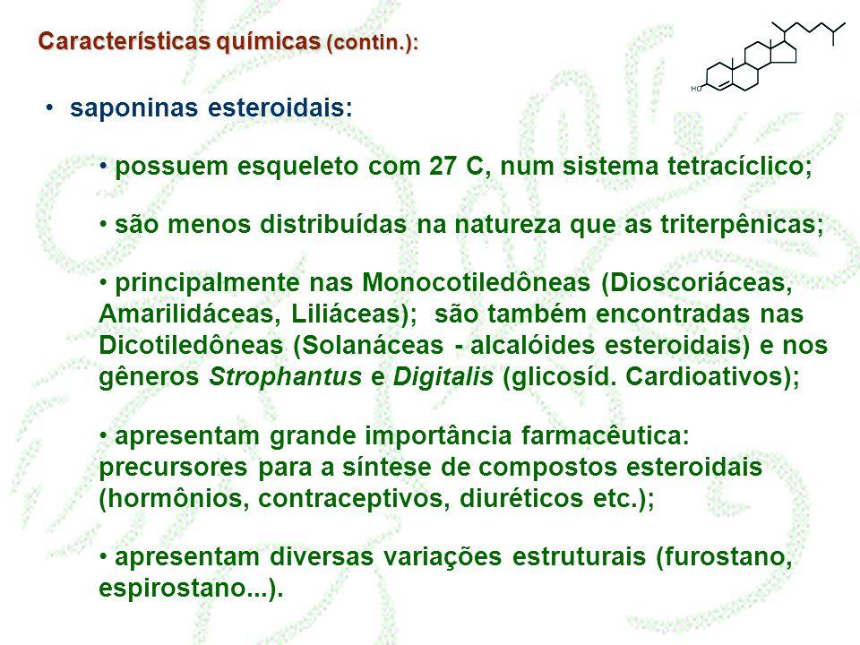 saponinas esteroidais: