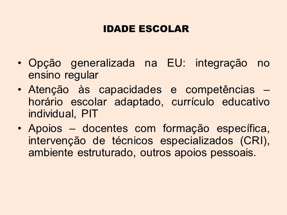Opção generalizada na EU: integração no ensino regular