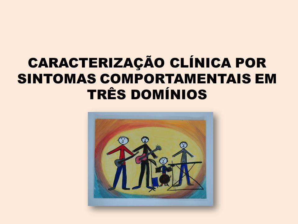 CARACTERIZAÇÃO CLÍNICA POR SINTOMAS COMPORTAMENTAIS EM TRÊS DOMÍNIOS