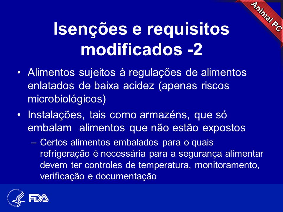 Isenções e requisitos modificados -2