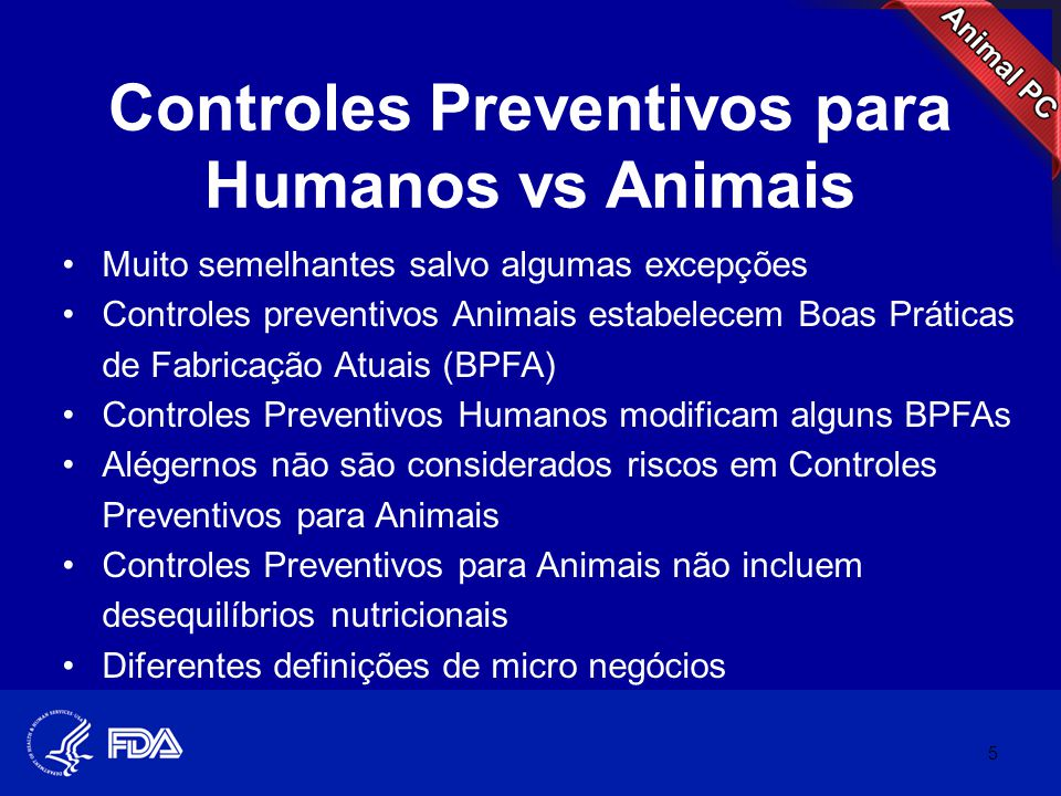 Controles Preventivos para Humanos vs Animais