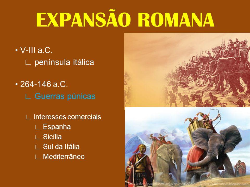 EXPANSÃO ROMANA • V-III a.C. ∟ península itálica • 264-146 a.C.