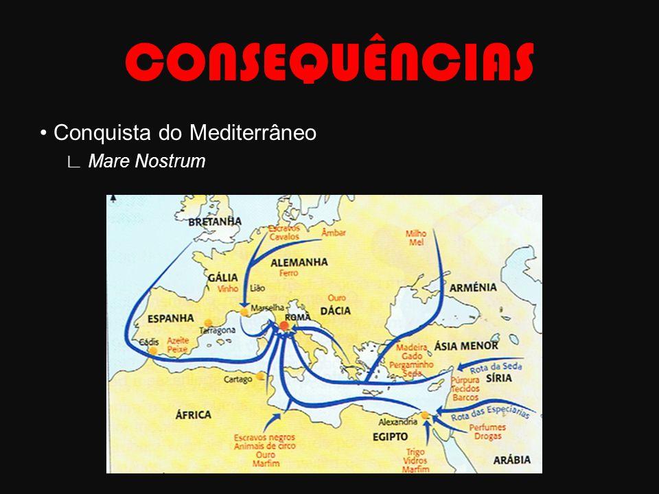 CONSEQUÊNCIAS • Conquista do Mediterrâneo ∟ Mare Nostrum
