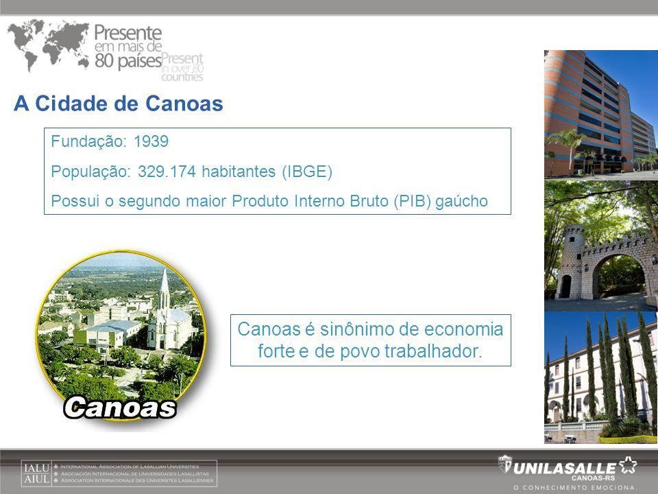 Canoas é sinônimo de economia forte e de povo trabalhador.
