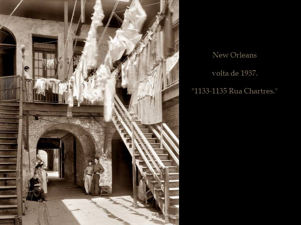 New Orleans volta de 1937. 1133-1135 Rua Chartres.