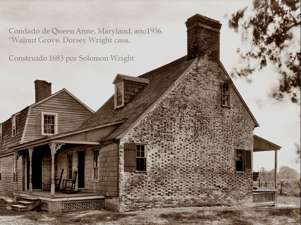 Condado de Queen Anne, Maryland, ano1936. Walnut Grove