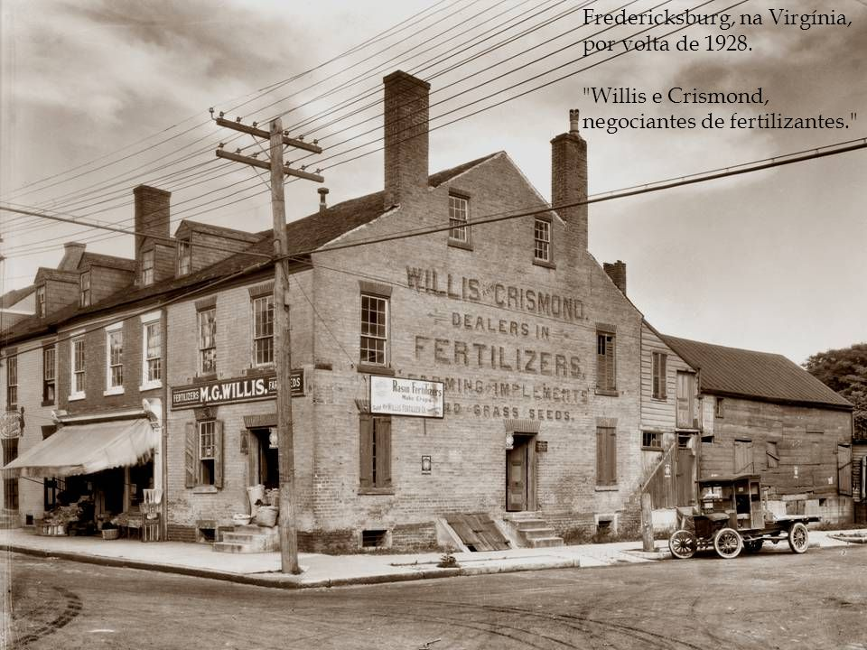 Fredericksburg, na Virgínia, por volta de 1928.
