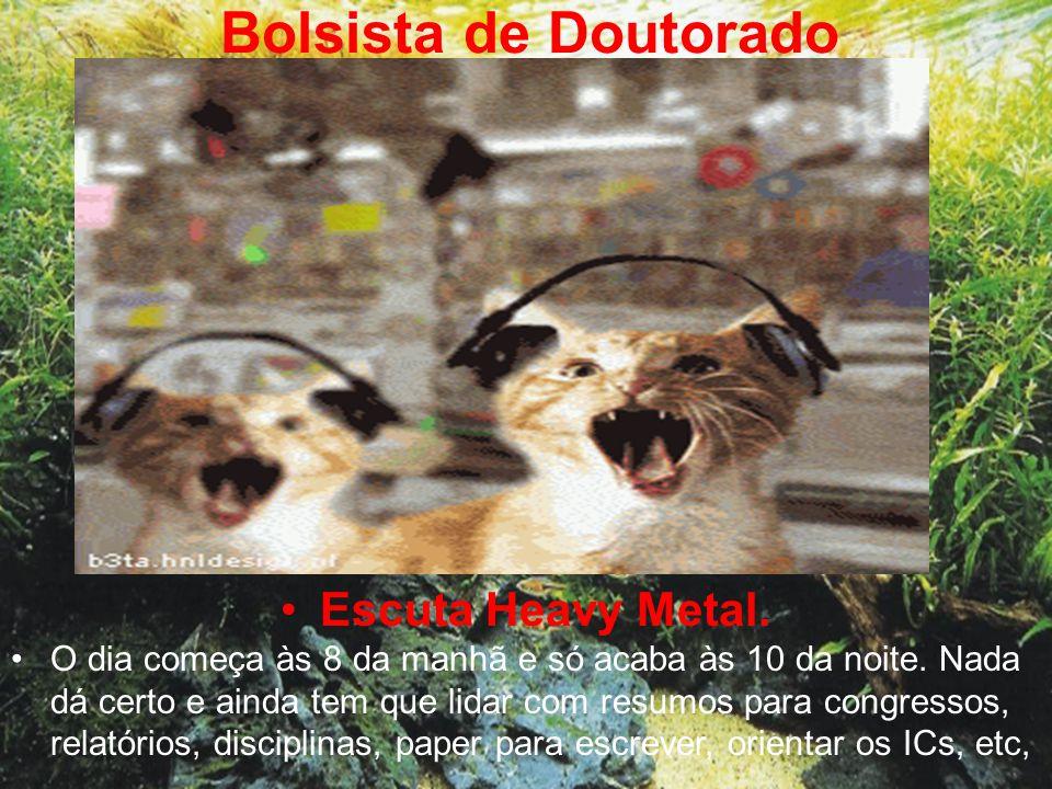Bolsista de Doutorado Escuta Heavy Metal.