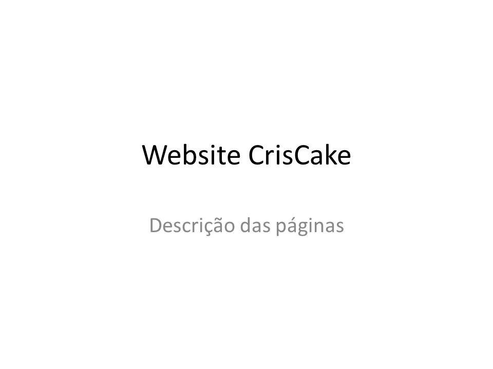 Website CrisCake Descrição das páginas