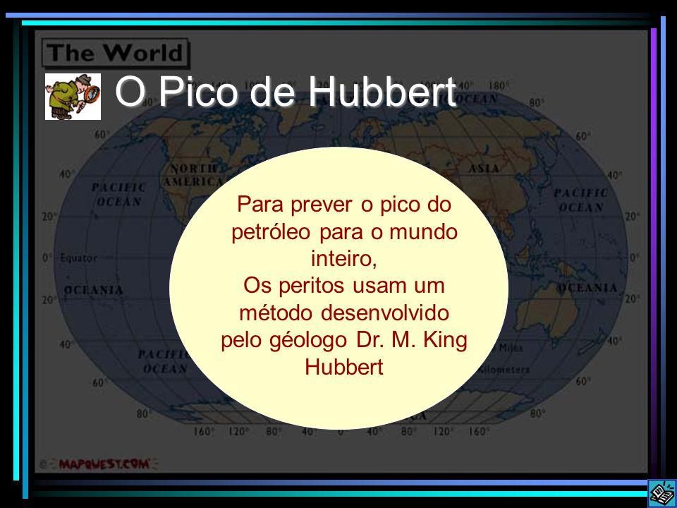 Para prever o pico do petróleo para o mundo inteiro,